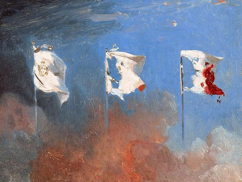 پرچم سفید فرانسه به سه رنگ بدلیل انقلاب ۱۸۳۰ فرانسه تغییر کرد